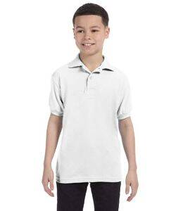 Hanes Youth Jersey Knit Polo Shirt