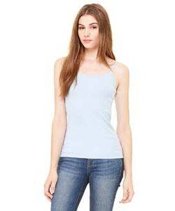 Bella Ladies' Rib Spaghetti Tank Top