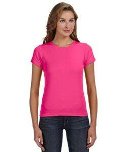 Anvil 1x1 Rib Scoop Neck T-Shirt