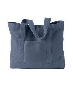 Authentic Pigment Pigment-Dyed Large Canvas Tote