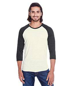 Threadfast Apparel Unisex Triblend 3/4 Sleeve Raglan Tee