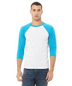 Bella+Canvas Unisex Triblend 3/4-Sleeve Baseball T-Shirt