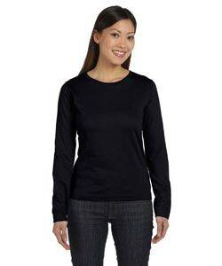 LAT Ladies Combed Cotton Long-Sleeve T-Shirt