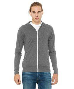 Canvas Unisex Triblend Full-Zip Lightweight Hoodie