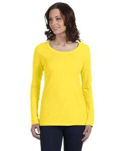 Anvil Ladies' Sheer Long-Sleeve Scoop Neck T-Shirt