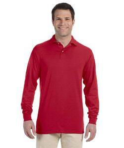 Jerzees 50/50 Long Sleeve Jersey Knit Polo Shirt