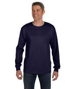 Hanes Tagless Long Sleeve Pocket T-Shirt