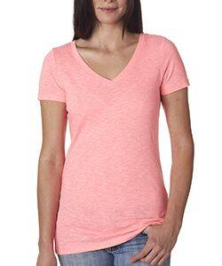 Next Level Ladie's Slub Crossover V-Neck Tee