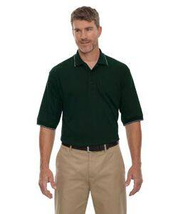 Extreme Men's Jersey Polo Shirt With Pencil Stripe