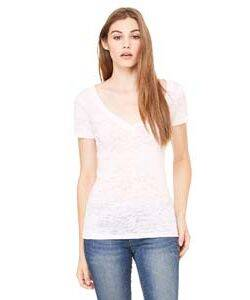 Bella Ladies' Burnout V-Neck T-Shirt