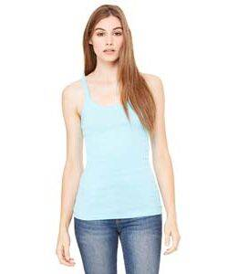 Bella Longer Length Sheer Ribbed Tank