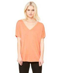 Bella Ladie's Flowy Simple V-Neck T-Shirt