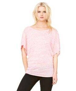 Bella Ladie's Flowy Draped Dolman T-Shirt
