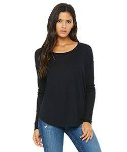 Bella Ladie's Flowy Long-Sleeve T-Shirt with 2x1 Sleeves
