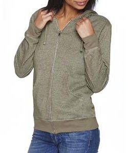 Next Level Unisex Denim Fleece Full-Zip Hoodie
