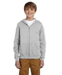 Jerzees Youth Full-Zip Hooded Sweatshirt