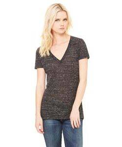Bella Ladies' Deep V-Neck T-Shirt