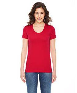 American Apparel Ladies Poly-Cotton Short-Sleeve Crewneck