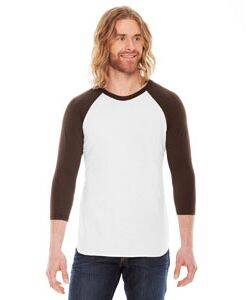 American Apparel Unisex Poly-Cotton 3/4-Sleeve Baseball Tee