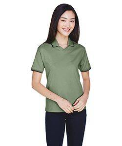 Devon & Jones Ladies' Tipped Perfect Pima Polo Shirt