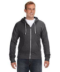 J America Triblend Full-Zip Fleece Hoodie