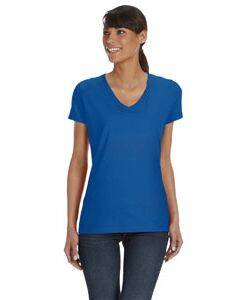 Fruit of the Loom Ladie's 5 oz. 100% Heavy Cotton HD V-Neck T-Shirt