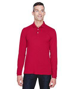 Harriton Easy Blend Long-Sleeve Polo Shirt