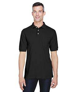 Harriton Easy Blend Pocket Polo Shirt