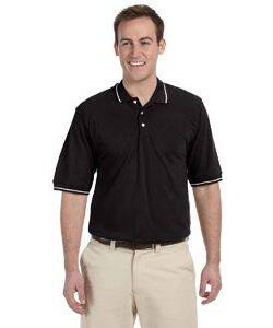 Harriton Tipped Collar Easy Blend Polo Shirt