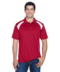 Harriton Polytech Colorblock Polo Shirt