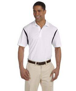Harriton Back Blocked Micro-Pique Polo Shirt