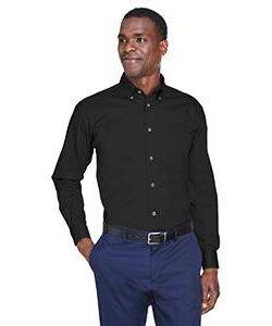 Harriton Long-Sleeve Stain-Release Twill Shirt