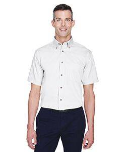 Harriton Short-Sleeve Stain-Release Twill Shirt