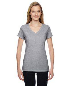 Fruit of the Loom Ladie's 100% Sofspun V-Neck T-Shirt