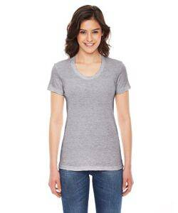 American Apparel Ladies Triblend Short-Sleeve Track T-Shirt