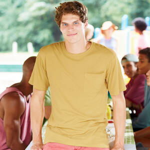 Authentic Pigment Pigment-Dyed Ringspun Pocket T-Shirt