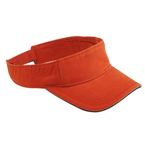 Big Accessories Washed Twill Visor