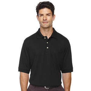 Extreme Men's Short Sleeve Pique Pocket Polo Shirt