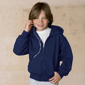 Hanes Youth 50/50 Full-Zip Hoodie Sweatshirt