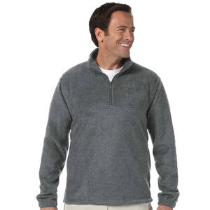 Harriton Quarter-Zip Fleece Pullover