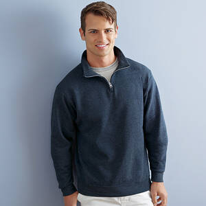 Jerzees NuBlend 50/50 Quarter-Zip Cadet Collar Sweatshirt