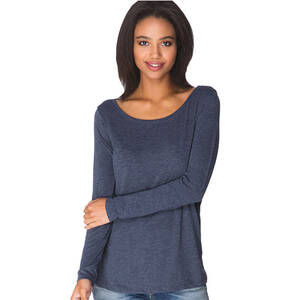 Next Level Ladie's Triblend Long-Sleeve Scoop Tee