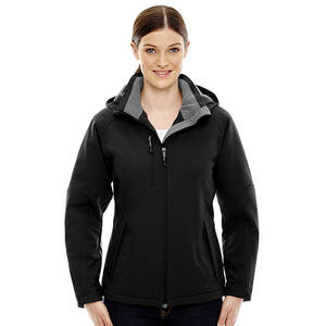 North End Glacier Ladie's Insulated Soft Shell Jacket With Detachable Hood